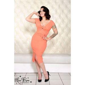 Dixiefried Niagara Dress - Peach Bengaline